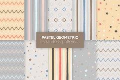 Pastel Geometric Seamless Patterns Product Image 1