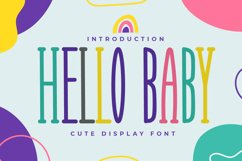 Hello Baby - Cute Display Font Product Image 1