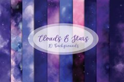 Clouds and Stars - 10 digital papers Product Image 1