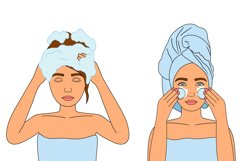 Cosmetics bundle clipart, make up and skincare eps, png. Product Image 5