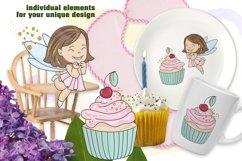 SPARKLING FAIRY Glitter Color Vector Illustration Set Product Image 3