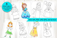 Princess coloring pages Product Image 1