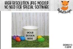 White Easter Bucket Mock Up Mockup Product Image 1