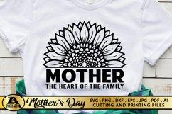 Mother SVG Mothers Day SVG Mom Life SVG Sunflower Heart SVG Product Image 1