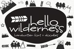 Hello Wilderness Font and Doodles Product Image 1