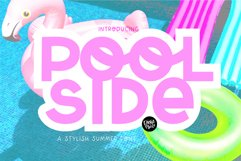 POOLSIDE a Bold Display Font Product Image 1