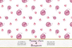 Funny Cats Seamless Patterns, Seamless backgrounds Product Image 12