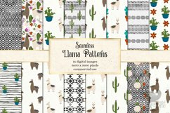 Llama Digital Paper Product Image 1