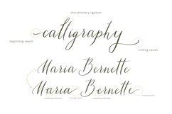 Tiara / modern calligraphy script Product Image 3