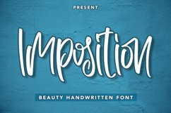 Imposition - Beauty Handwritten Font Product Image 1