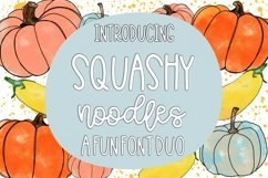 Squashy Noodles - A Fun Font Duo Product Image 1