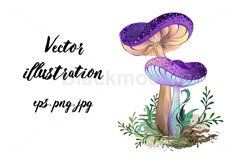 Two Purple Mushrooms Product Image 1