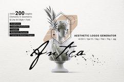 Antica. Aesthetic Logos Generator Product Image 1