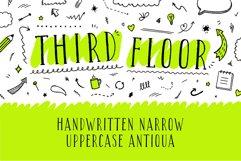 Third Floor Latin & Cyrillic handwritten grungy font Product Image 1