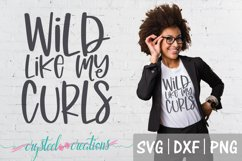 Wild Like My Curls both designs SVG, DXF, PNG Product Image 3
