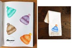 Watercolour Winter Hats Clip Art PNG Sublimation Product Image 3