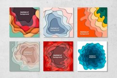 Bundle of 100 paper cut backgrounds Product Image 3
