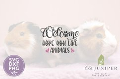 Hope You Like Animals SVG Files, Funny Front Door SVG Product Image 2
