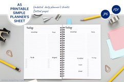 Undated daily planner's sheets. Printable A5 pages Product Image 1