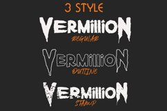 Vermillion Display Font Product Image 2
