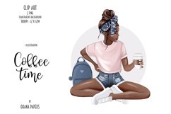 Coffee Fashion Girl Clipart, Planner Graphics Supplies Product Image 2