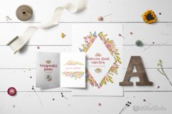 Cute owls clipart. Watercolor collection with floral forest Product Image 12