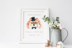 Dog watercolor.Animal Clip art Dog watercolor breeds clipart Product Image 3