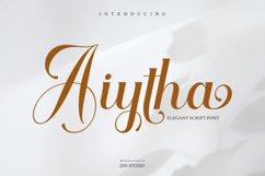 Aiytha-Elegant Caligraphy Font Product Image 1