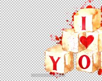 Watercolor valentine clipart, Cute valentine's cards DIY Product Image 4