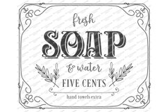 Fresh Soap And Water Five Cents Hand Towels - Farmhouse SVG Product Image 2