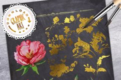 Peony and Gold leaf Product Image 2