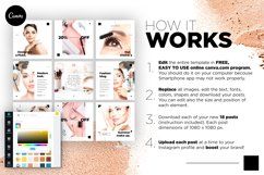 Beauty Instagram 18 Posts Template | CANVA Product Image 6