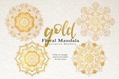 Floral Watercolor & Gold Mandala Product Image 7