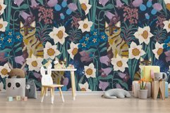 Patterns with wildflowers, cat, moth, dragonfly Product Image 5