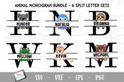 Animal Monogram Bundle - 6 Sets of Animal Split Letters A-Z Product Image 1