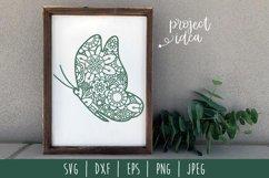 Butterfly Mandala Zentangle Bundle Set of 7 - SVG Product Image 5