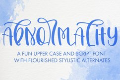 Abnormality An Upper Case and Script Font Product Image 1