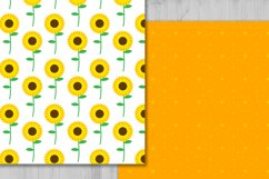 Sunflowers Digital Paper, Floral Background. Product Image 4