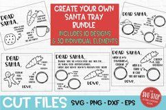 Santa Cookie Tray BUNDLE - SVG, PNG, DXF, EPS Product Image 1