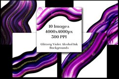 Glittery Violet Alcohol Ink Backgrounds - 10 Image Set Product Image 2