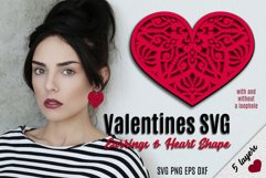 Valentines SVG | Earrings and Heart Shape Product Image 1