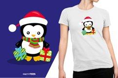 Baby Penguin Giftbox T-Shirt Design | Sublimation T-Shirt Product Image 4