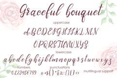 Graceful bouquet-lovely font&clipart Product Image 2