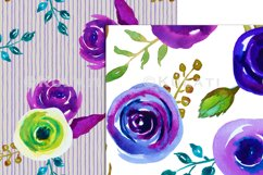 Watercolor Floral Seamless Patterns Product Image 3