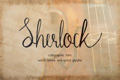 Sherlock calligraphy script font Product Image 1