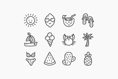Summer Doodle Icons - Colorful & Outline Product Image 2