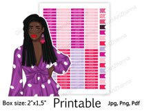 """Galentine's Day African American Stickers Box Size 2""""x1,5"""" Product Image 2"""