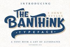 The Banthink - Retro Font Product Image 2