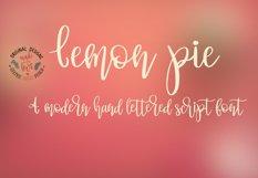 Lemon Pie Modern Hand Lettered Script Font Product Image 1