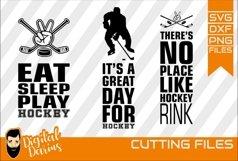 3x Hockey bundle SVG, Sport svg, Cuttable, Digital, Vector Product Image 1